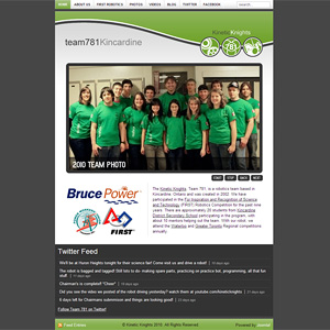 Team781.com 2010 Website